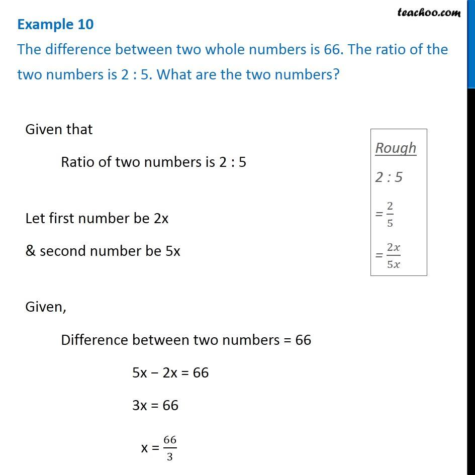 how to write a ratio between two numbers