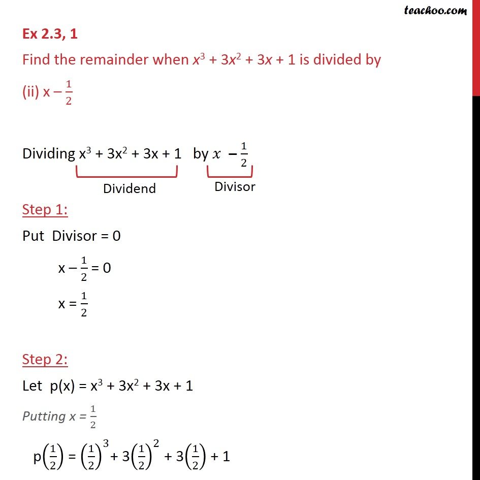 Ex 2.3,1 - Chapter 2 Class 9 Polynomials - Part 3