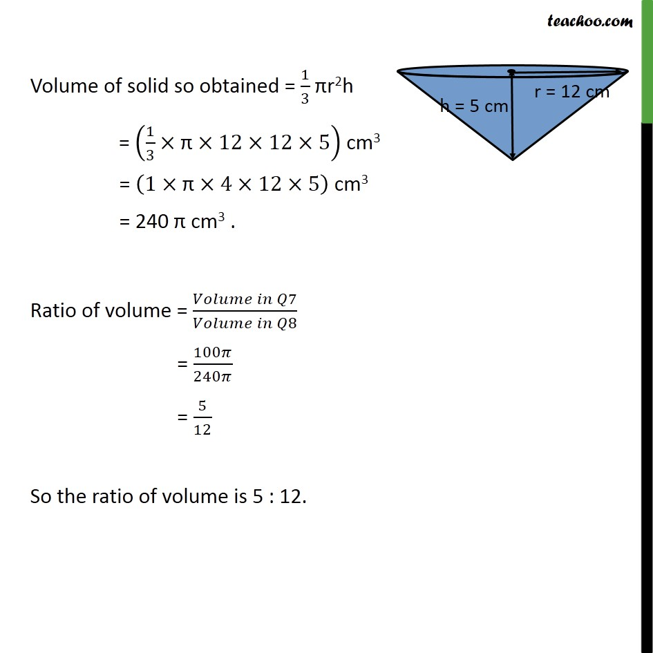 Ex 13.7, 8 - Chapter 13 Class 9 Surface Areas and Volumes - Part 2