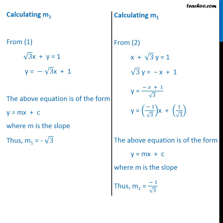 Ex 10.3, 9 - Chapter 10 Class 11 Straight Lines - Part 2