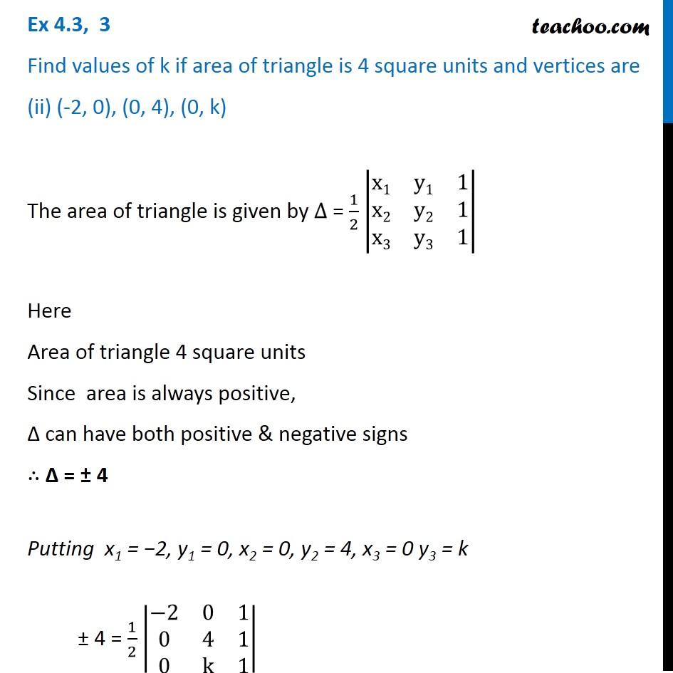 Ex 4.3, 3 - Chapter 4 Class 12 Determinants - Part 4