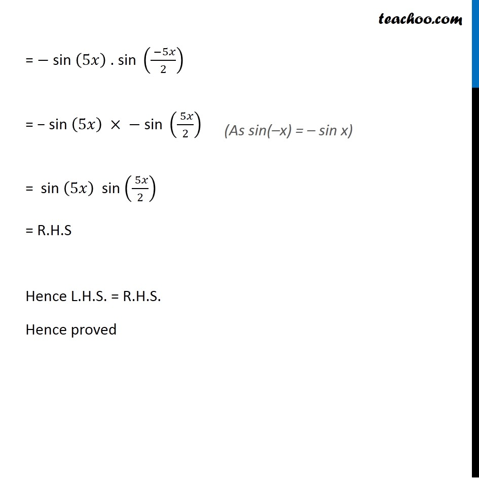 Example 26 - Chapter 3 Class 11 Trigonometric Functions - Part 5