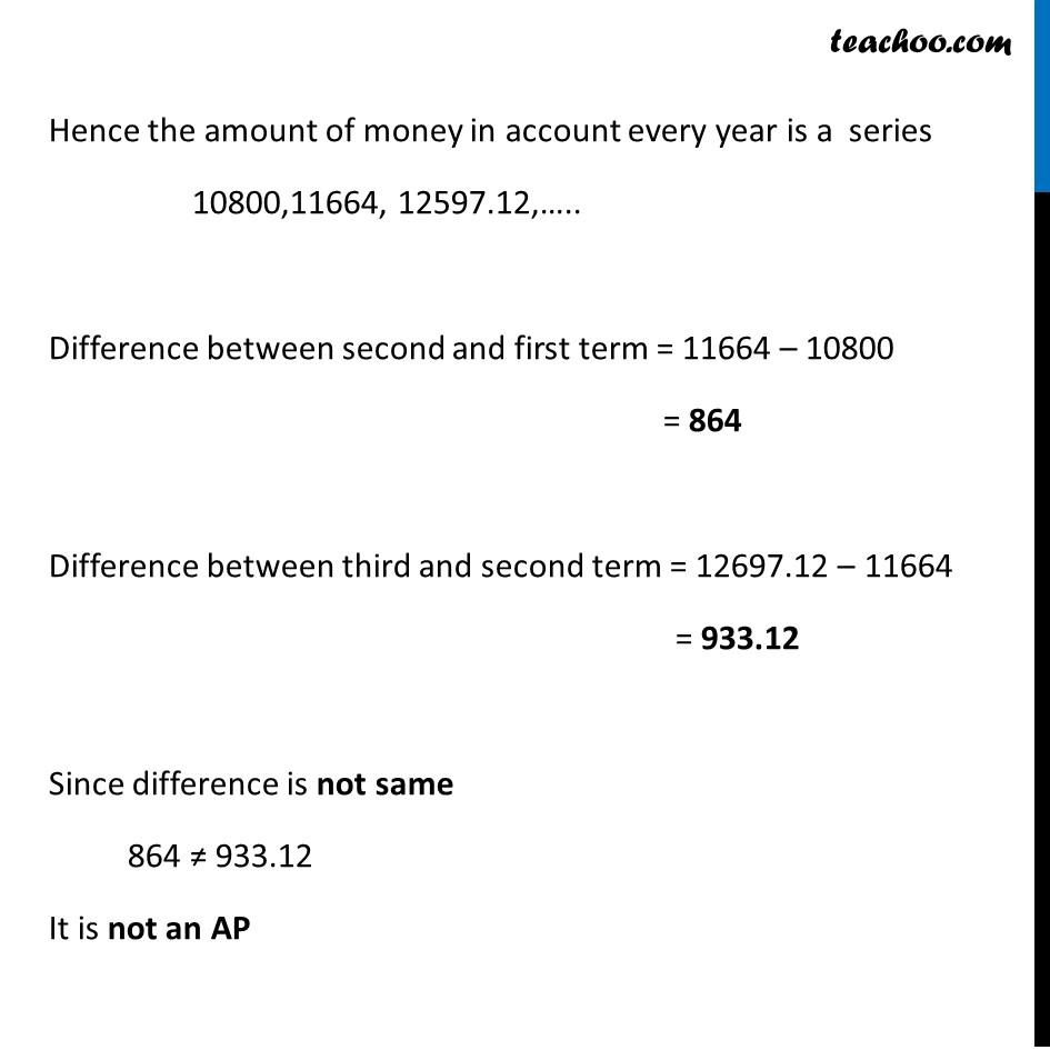 Ex 5.1, 1 - Chapter 5 Class 10 Arithmetic Progressions - Part 8