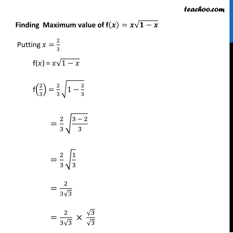 Ex 6.5,3 - Chapter 6 Class 12 Application of Derivatives - Part 34