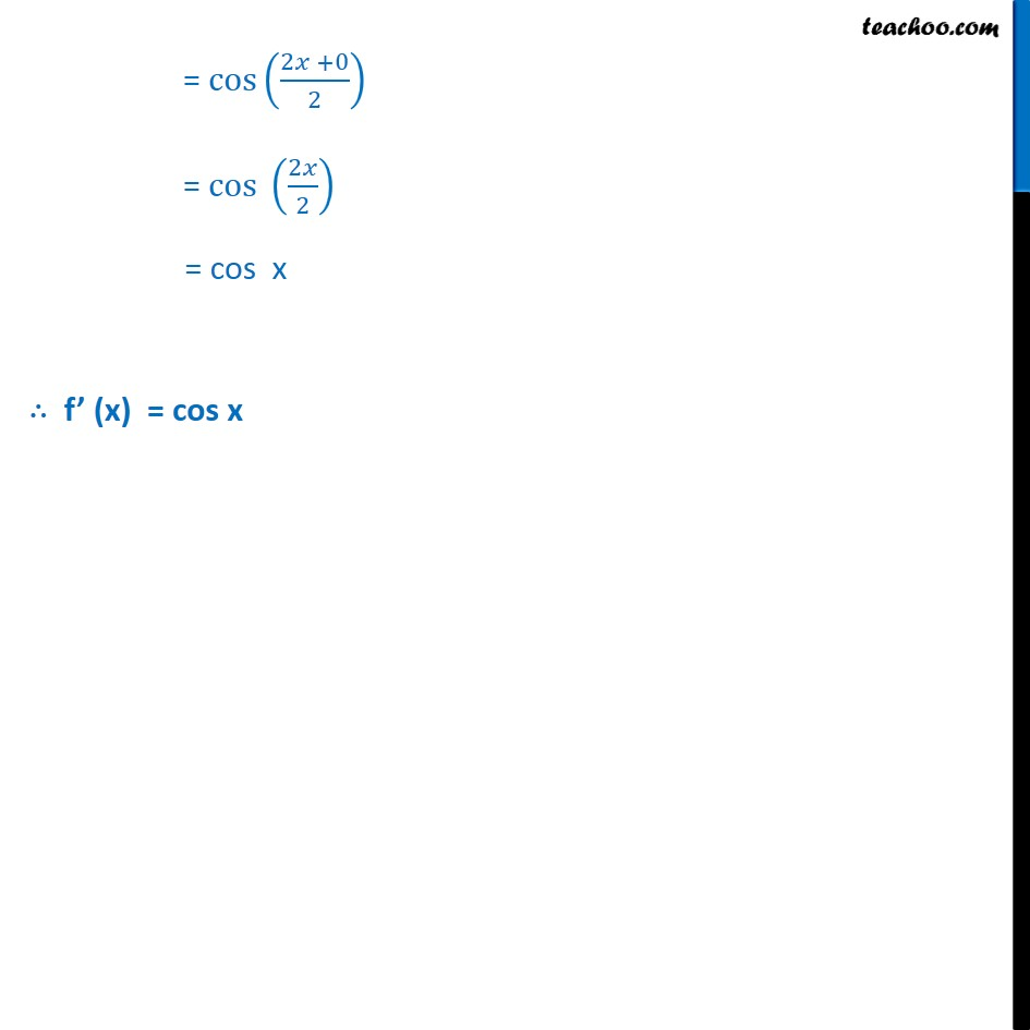 Example 16 - Chapter 13 Class 11 Limits and Derivatives - Part 3