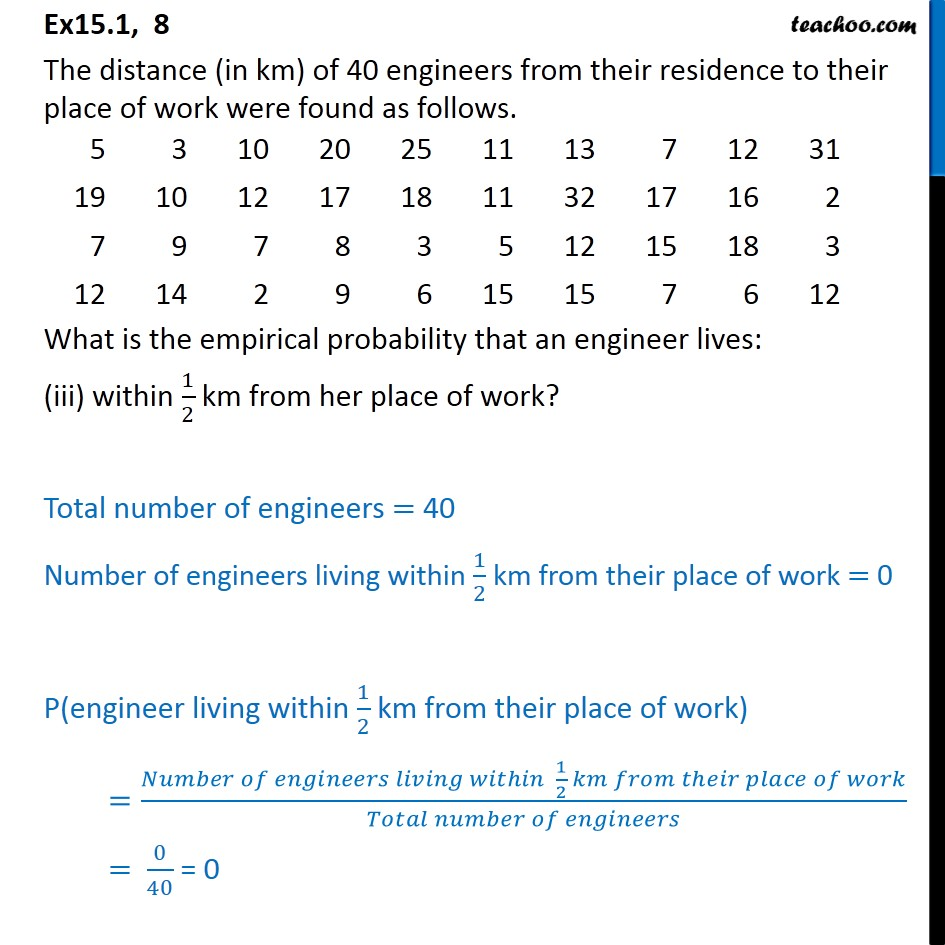 Ex  15.1, 8 - Chapter 15 Class 9 Probability - Part 4