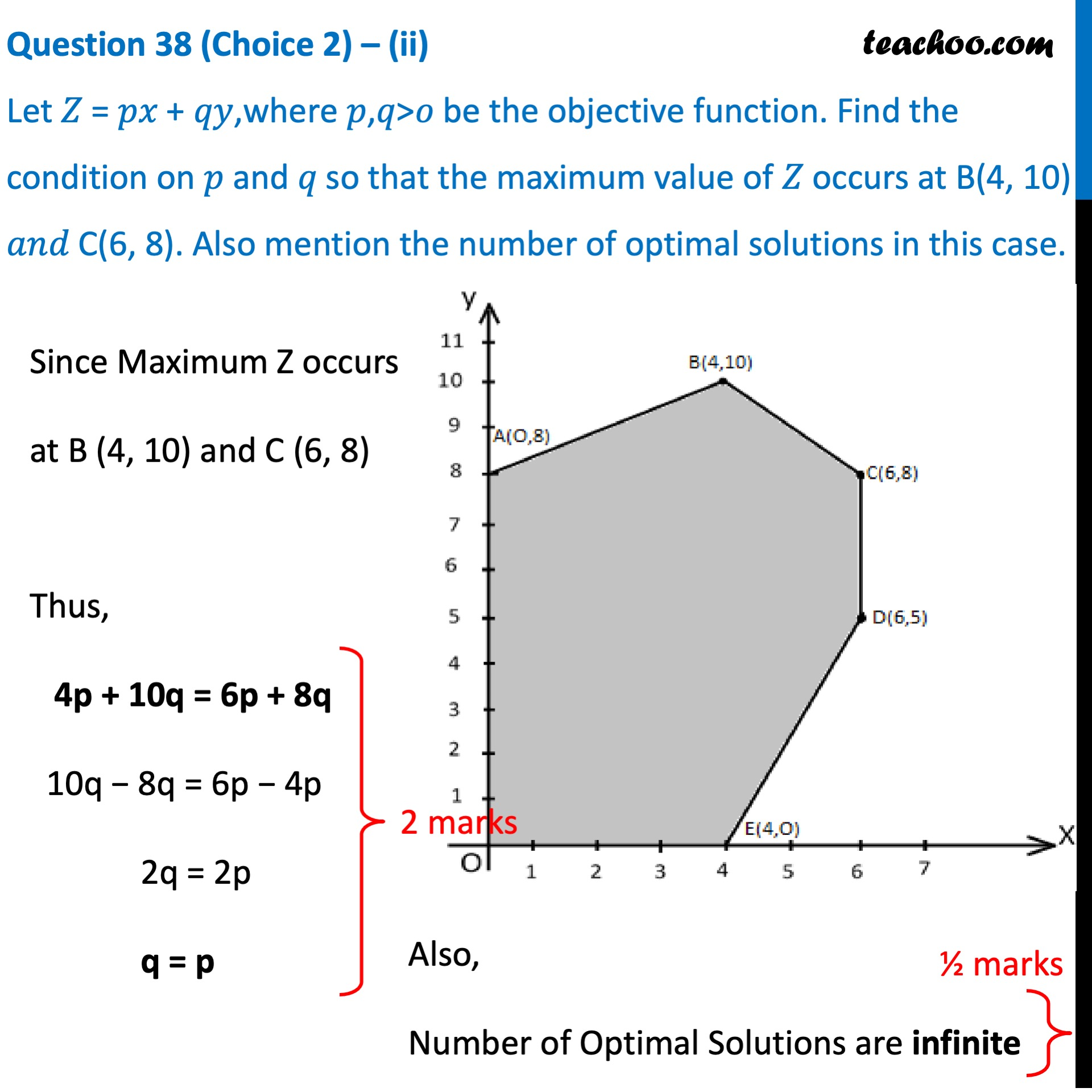 Question 38 (Choice 2) - CBSE Class 12 Sample Paper for 2021 Boards - Part 3