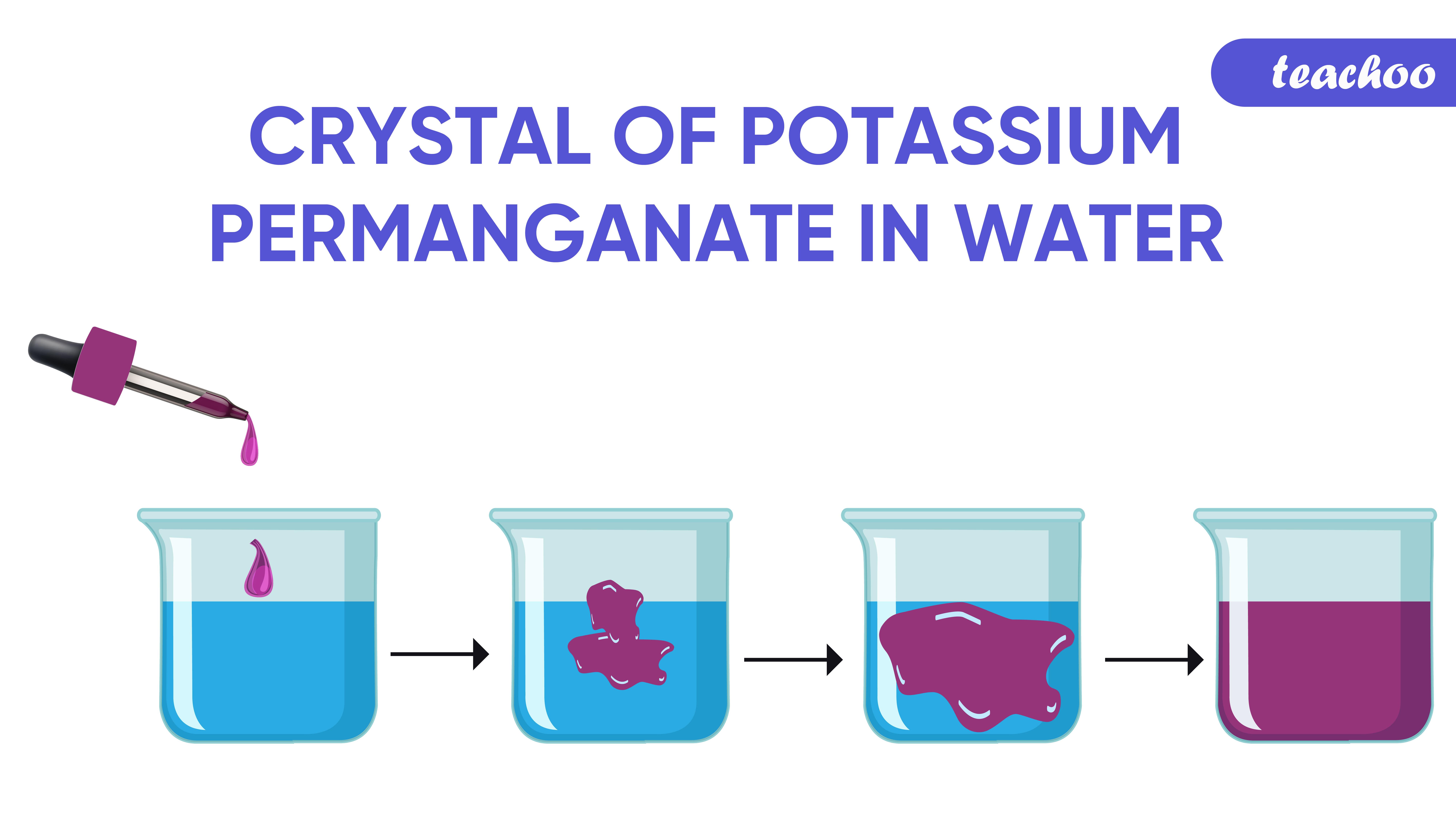 Crystal of potassium permanganate in water-Teachoo-01.jpg