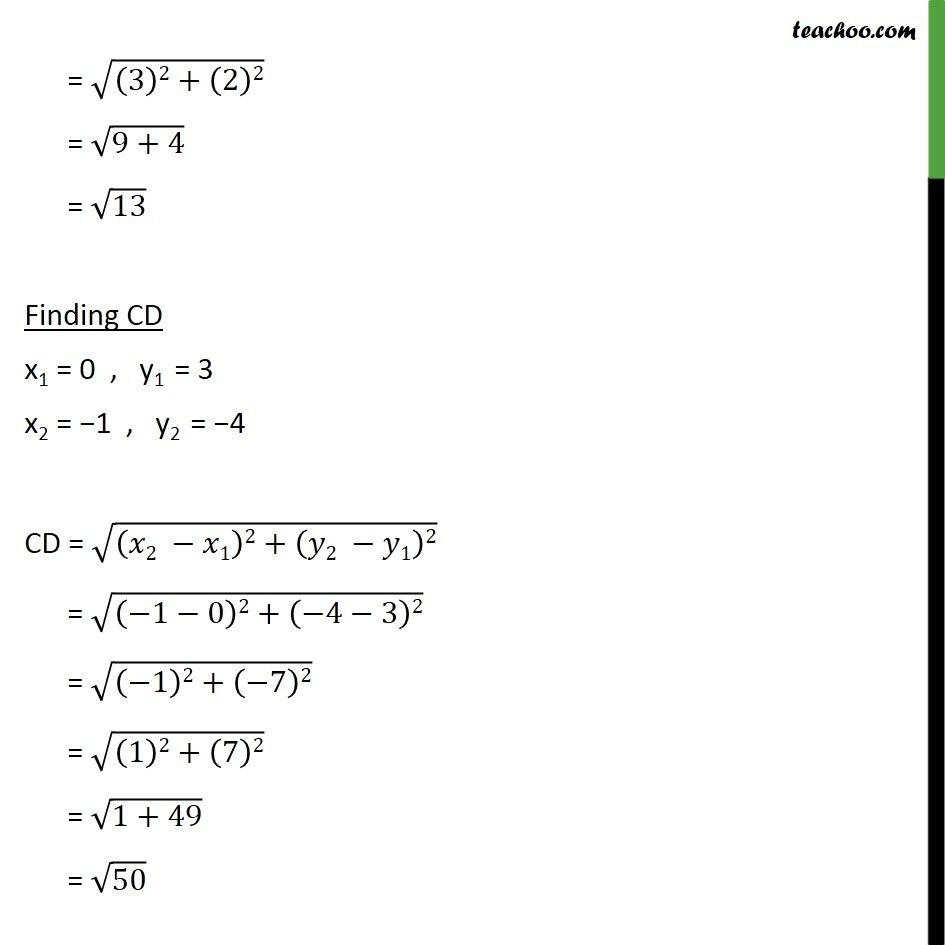 Ex 7.1, 6 - Chapter 7 Class 10 Coordinate Geometry - Part 11