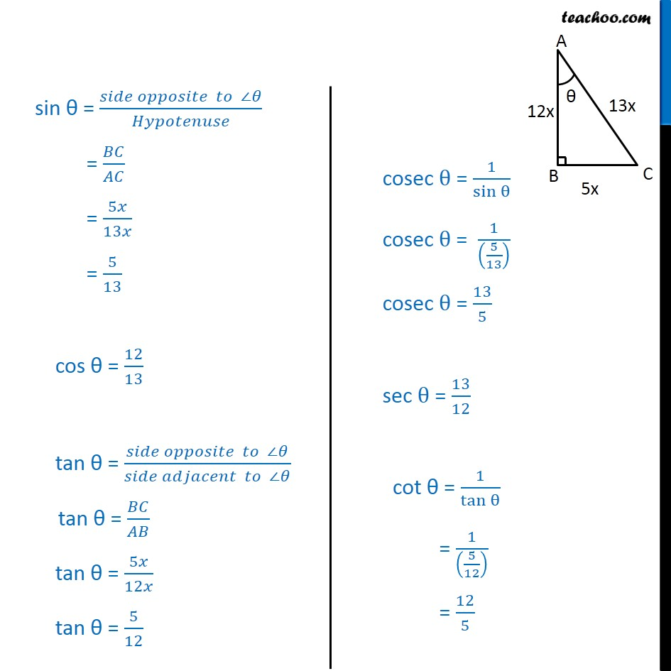 Ex 8.1, 5 - Chapter 8 Class 10 Introduction to Trignometry - Part 3
