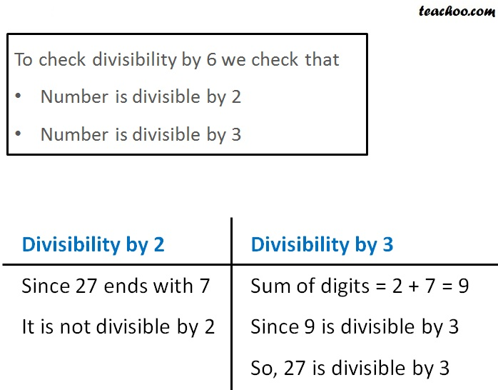 Divisibility by 6 - Part 3