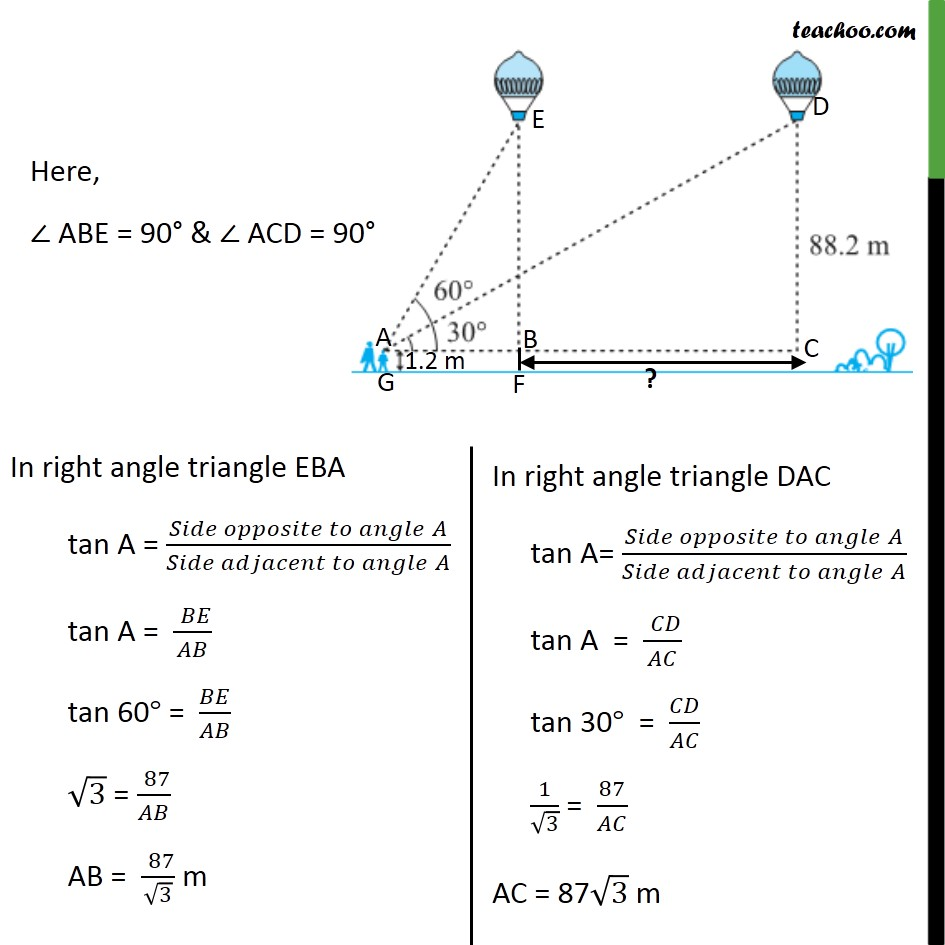 Ex 9.1, 14 - Chapter 9 Class 10 Some Applications of Trigonometry - Part 4