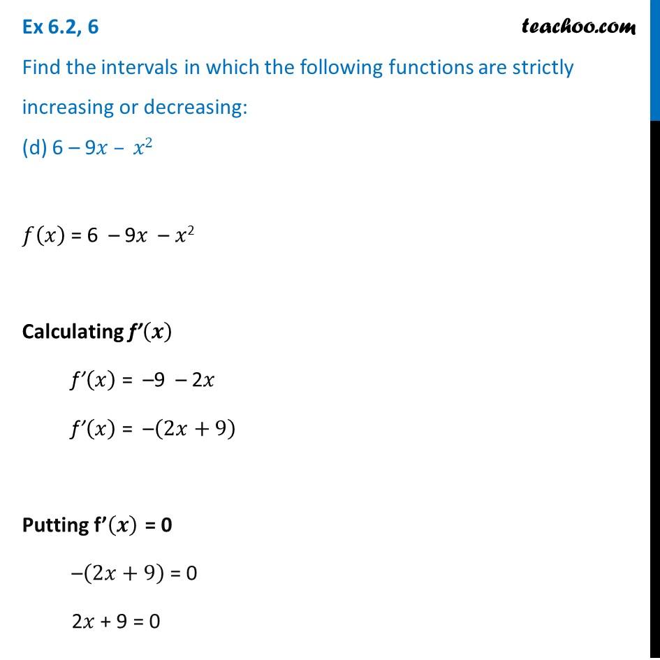 Ex 6.2,6 - Chapter 6 Class 12 Application of Derivatives - Part 8