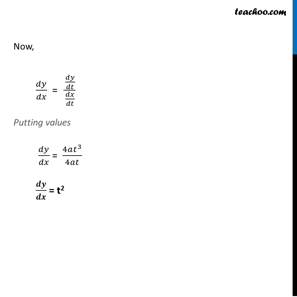Ex 5.6, 1 - Chapter 5 Class 12 Continuity and Differentiability - Part 2