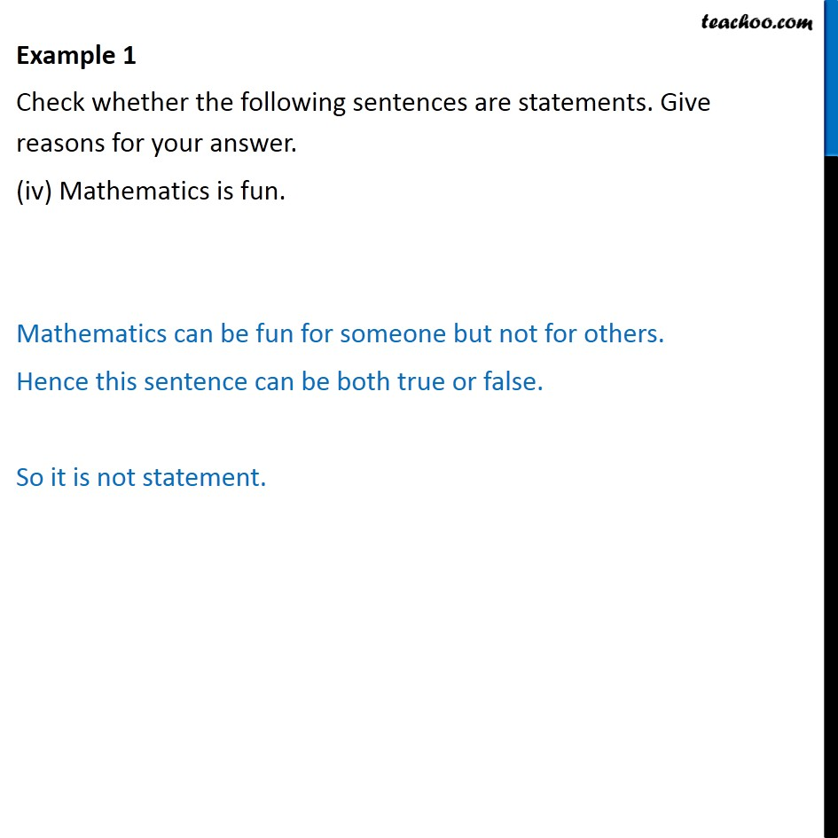 Example 1 - Chapter 14 Class 11 Mathematical Reasoning - Part 4