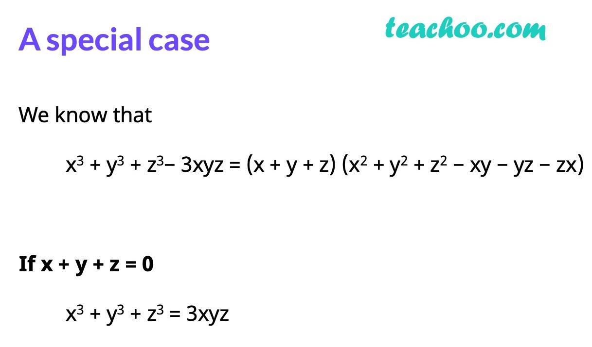 Special Algebra Formula - Algebra formulas - Teachoo.jpg
