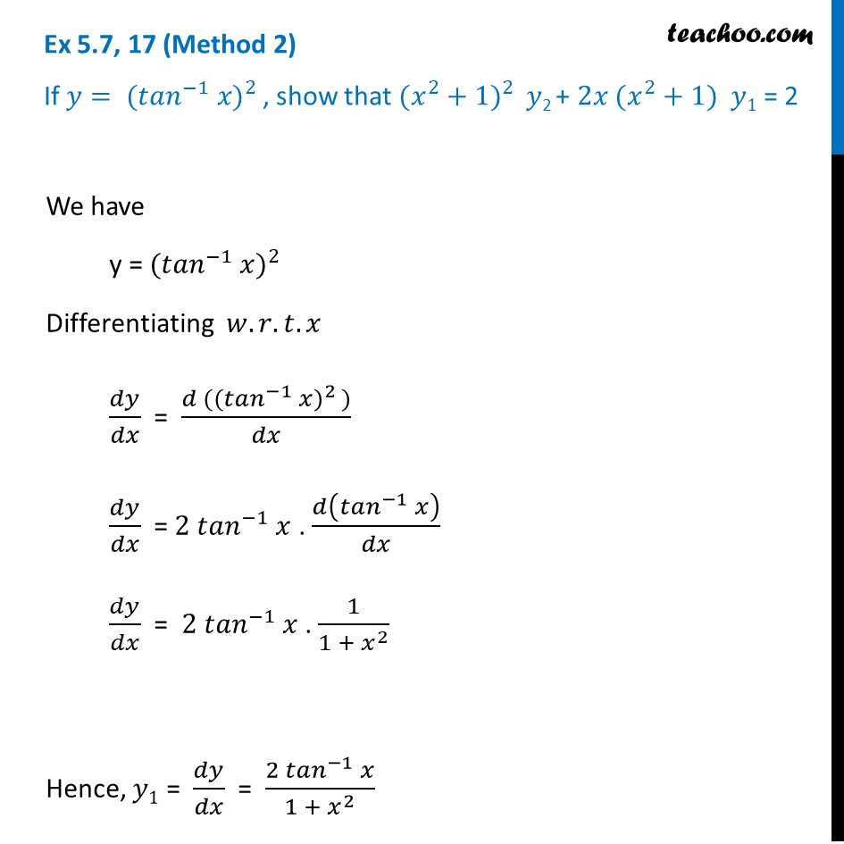 Ex 5.7, 17 - Chapter 5 Class 12 Continuity and Differentiability - Part 3