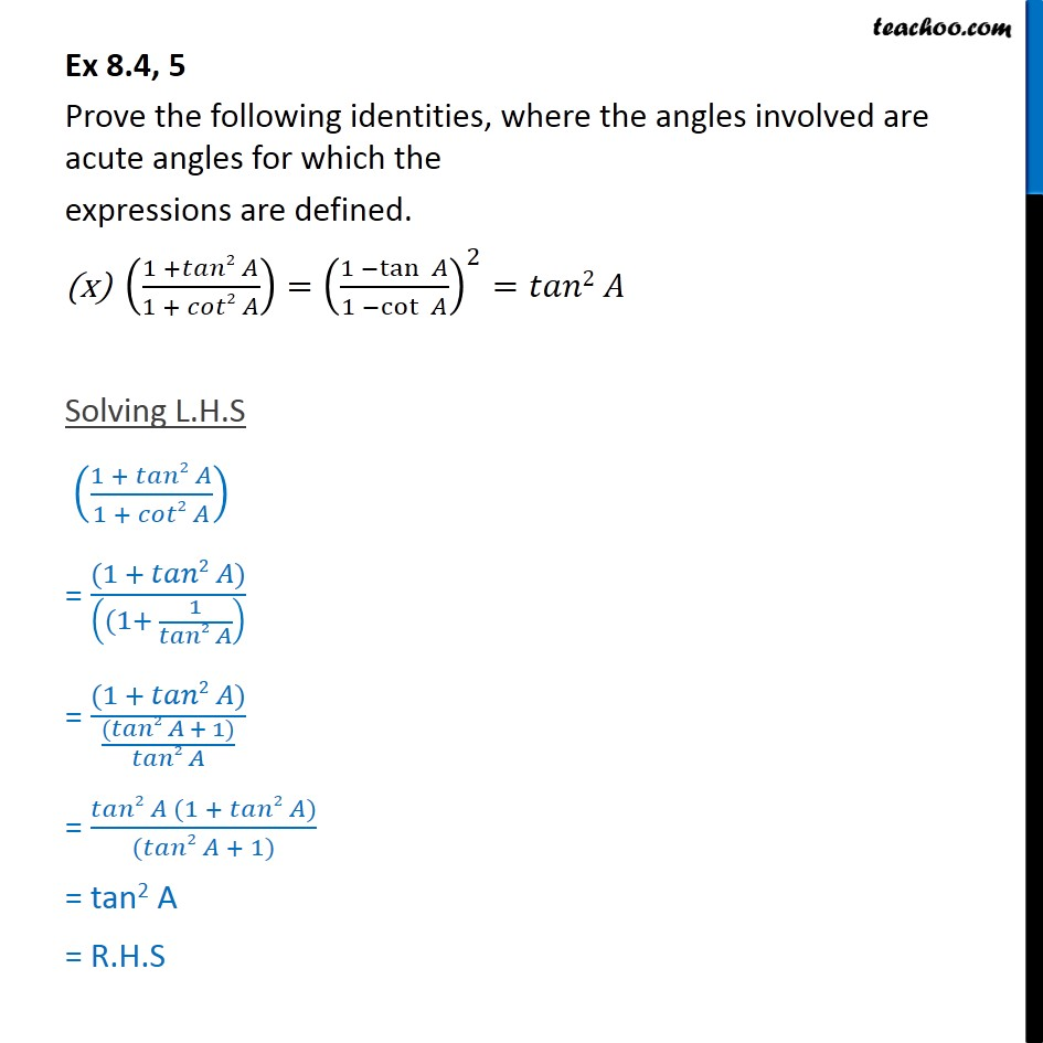 Ex 8.4, 5 - Chapter 8 Class 10 Introduction to Trignometry - Part 20