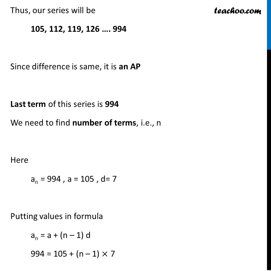 Ex 5.2, 13 - Chapter 5 Class 10 Arithmetic Progressions - Part 2