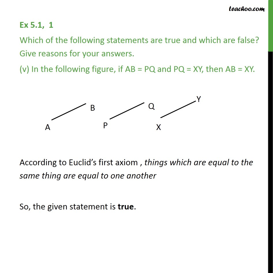 Ex 5.1, 1 - Chapter 5 Class 9 Introduction to Euclid's Geometry - Part 6