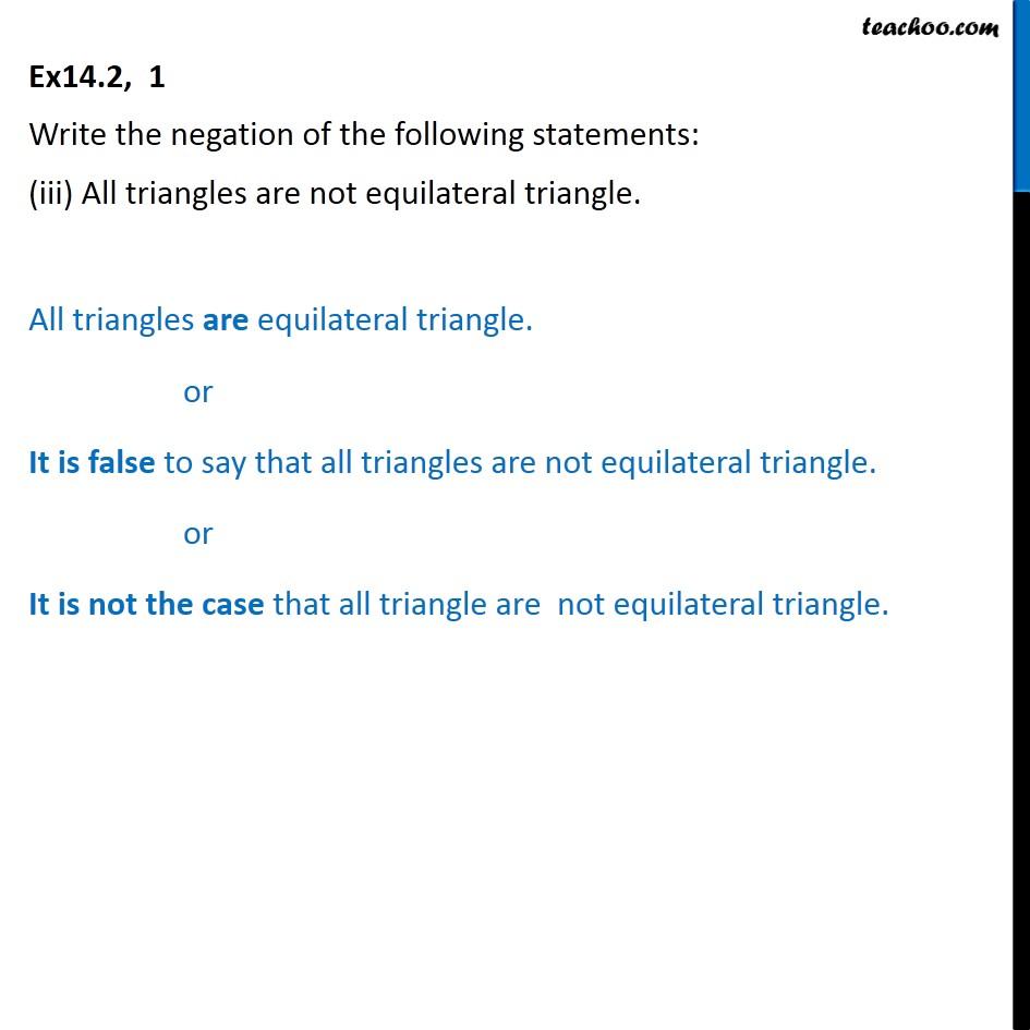 Ex 14.2,  1 - Chapter 14 Class 11 Mathematical Reasoning - Part 3