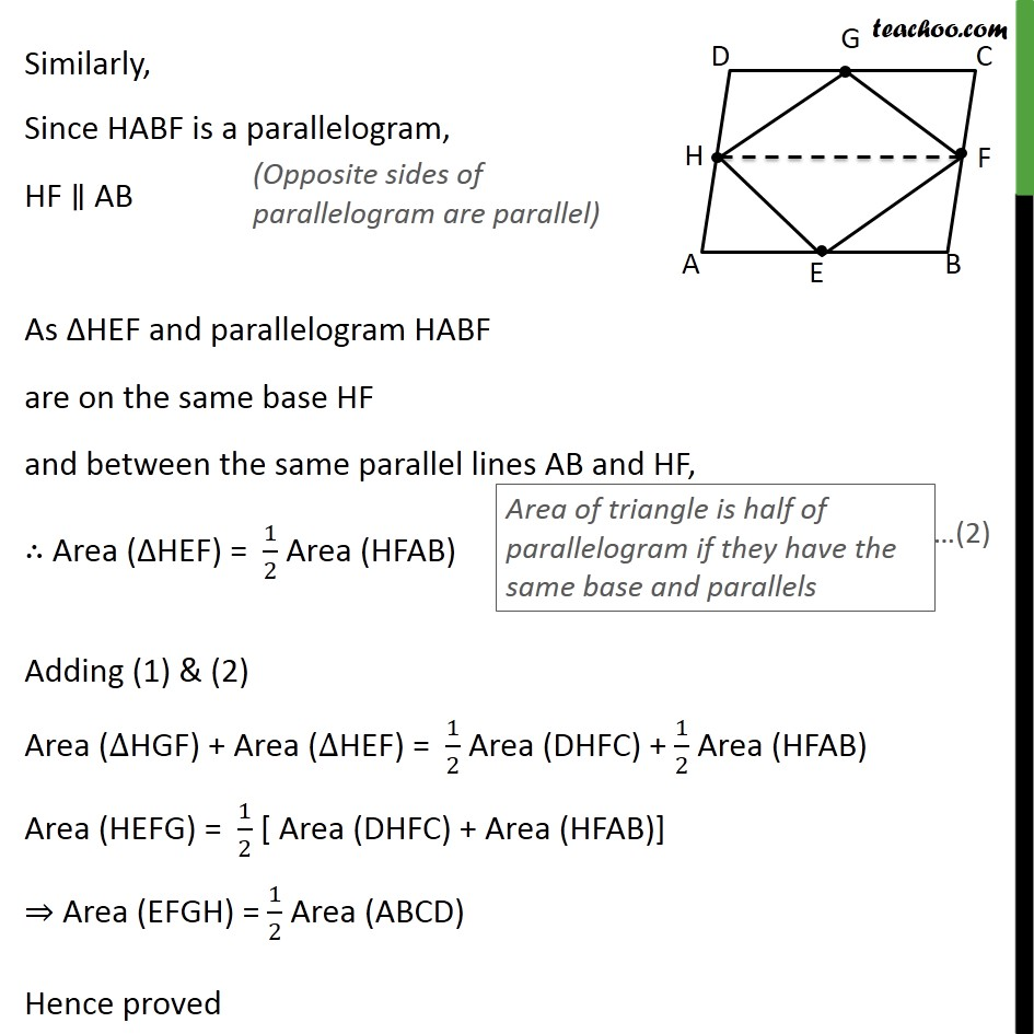 Ex 9.2, 2 - Chapter 9 Class 9 Areas of Parallelograms and Triangles - Part 3