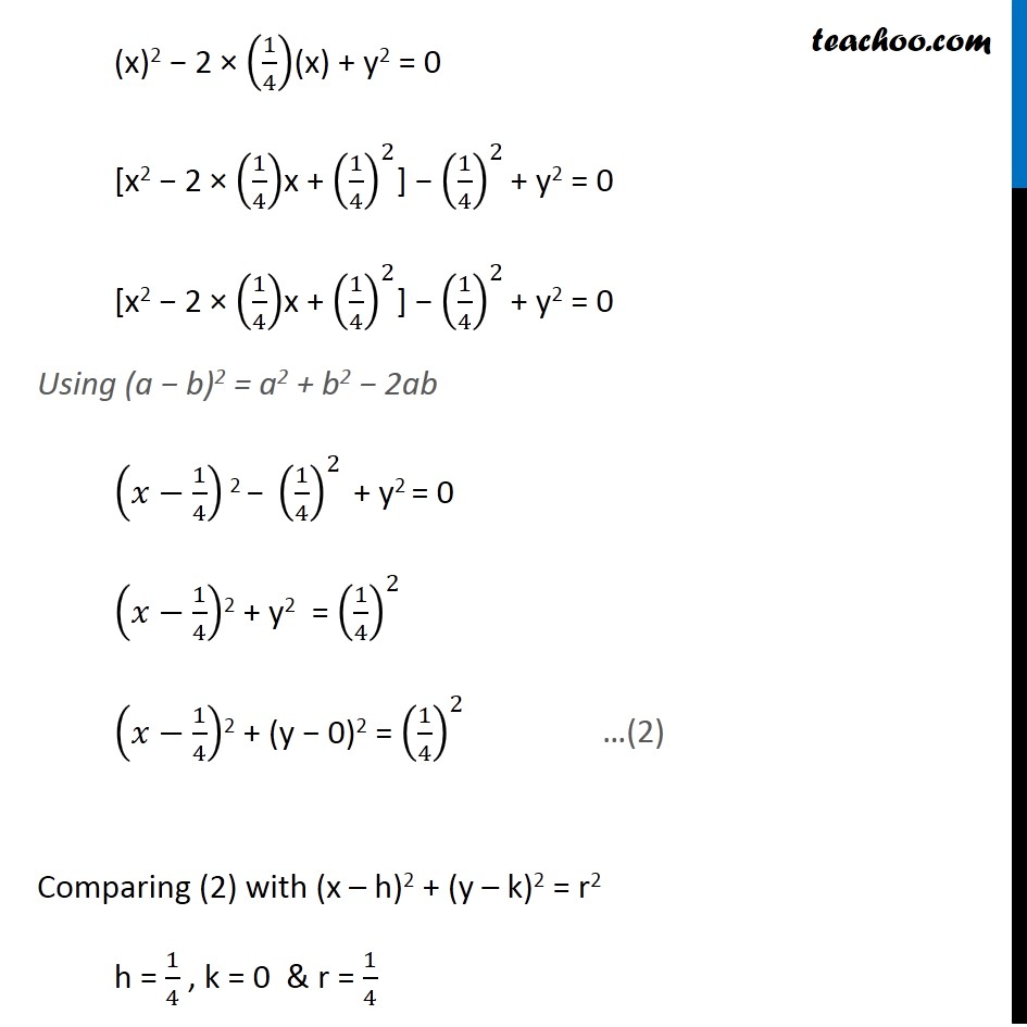 Ex 11.1,  9 - Chapter 11 Class 11 Conic Sections - Part 2