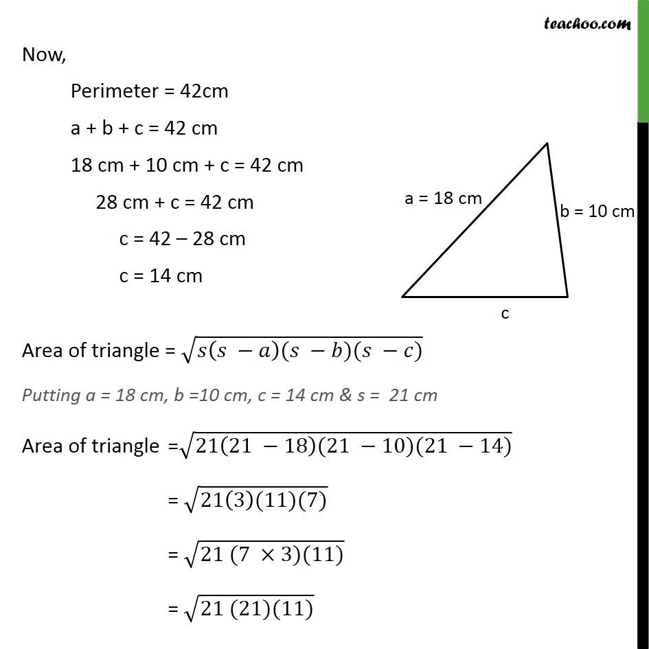 Ex 12.1, 4 - Chapter 12 Class 9 Herons Formula - Part 2