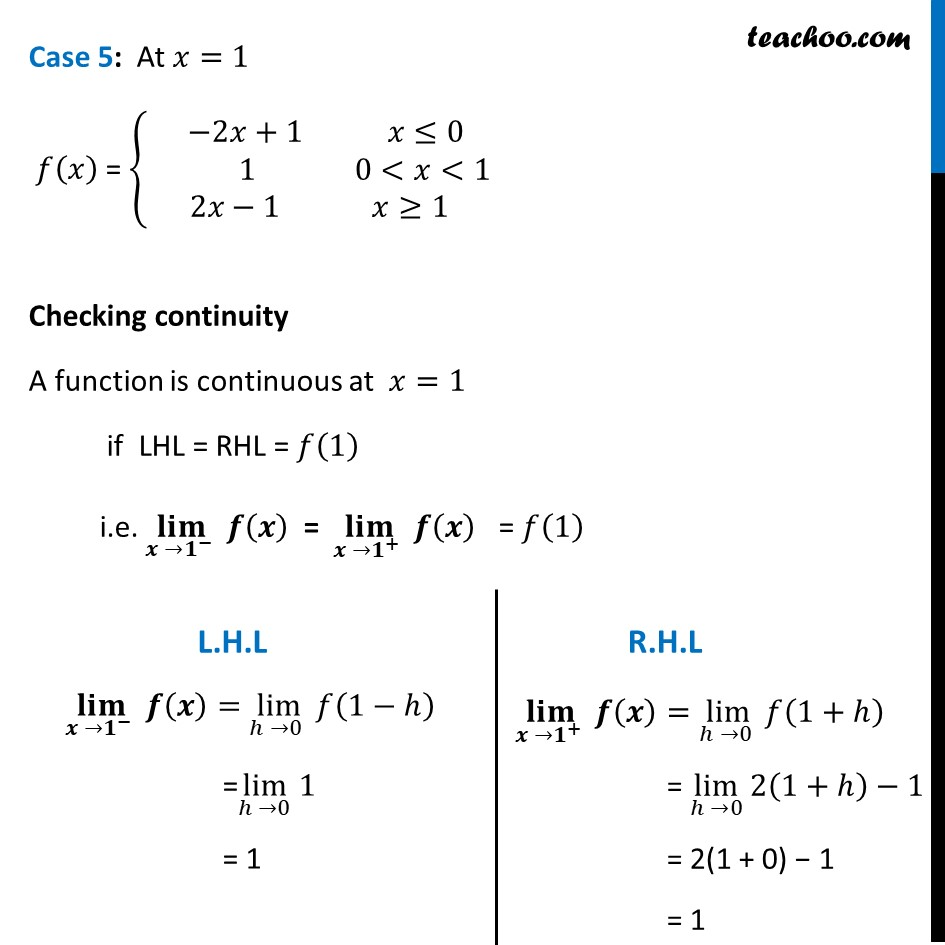 Misc  21 - Chapter 5 Class 12 Continuity and Differentiability - Part 7