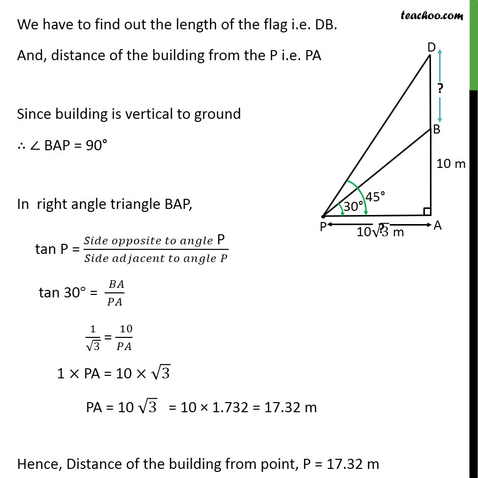 Example 4 - Chapter 9 Class 10 Some Applications of Trigonometry - Part 2