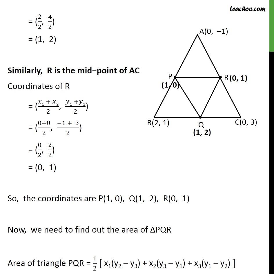 Ex 7.3, 3 - Chapter 7 Class 10 Coordinate Geometry - Part 4