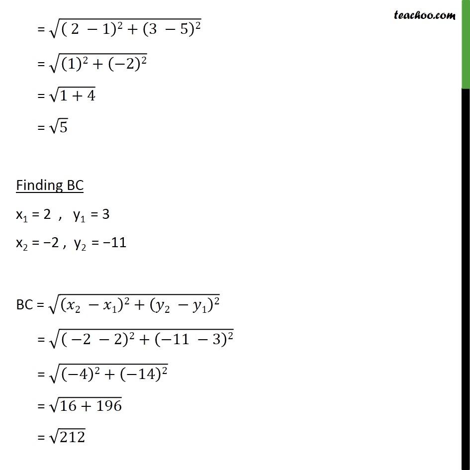 Ex 7.1, 3 - Chapter 7 Class 10 Coordinate Geometry - Part 3