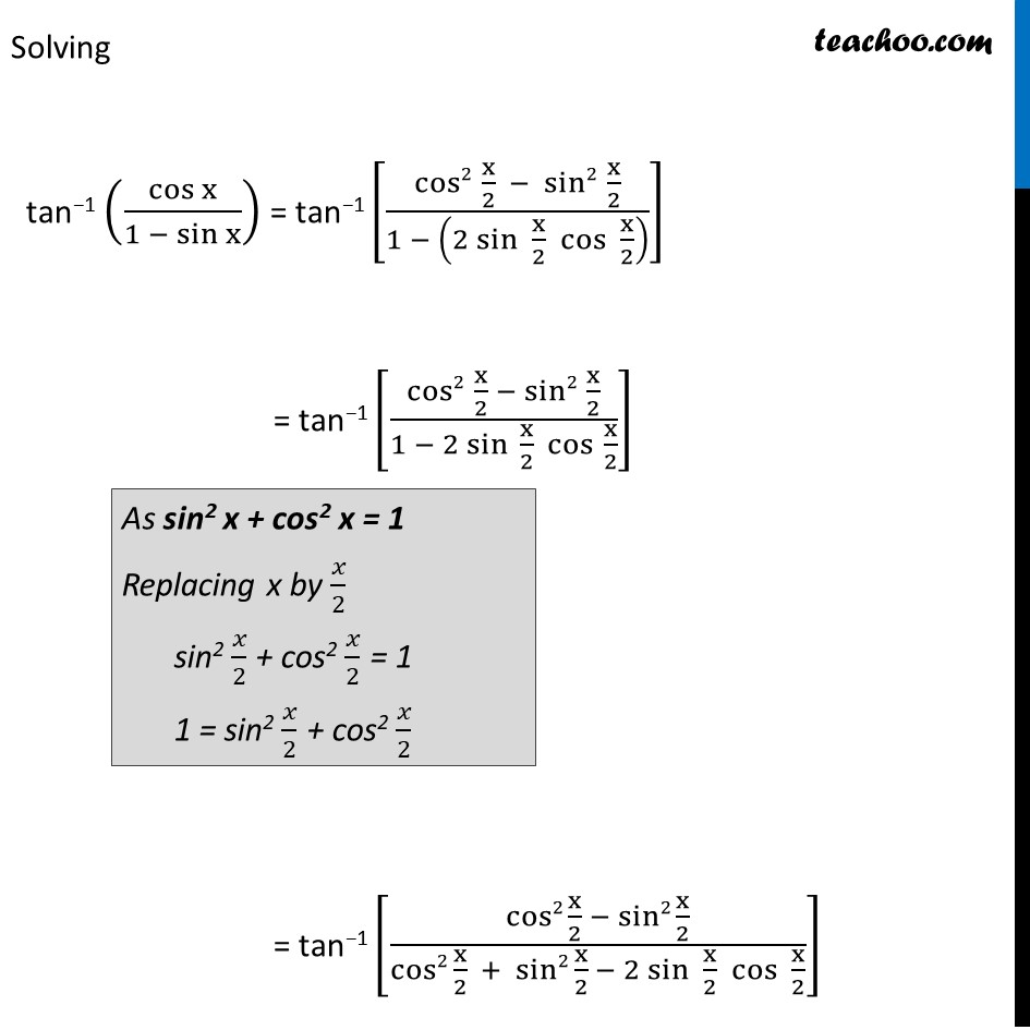 Example 5 - Chapter 2 Class 12 Inverse Trigonometric Functions - Part 2