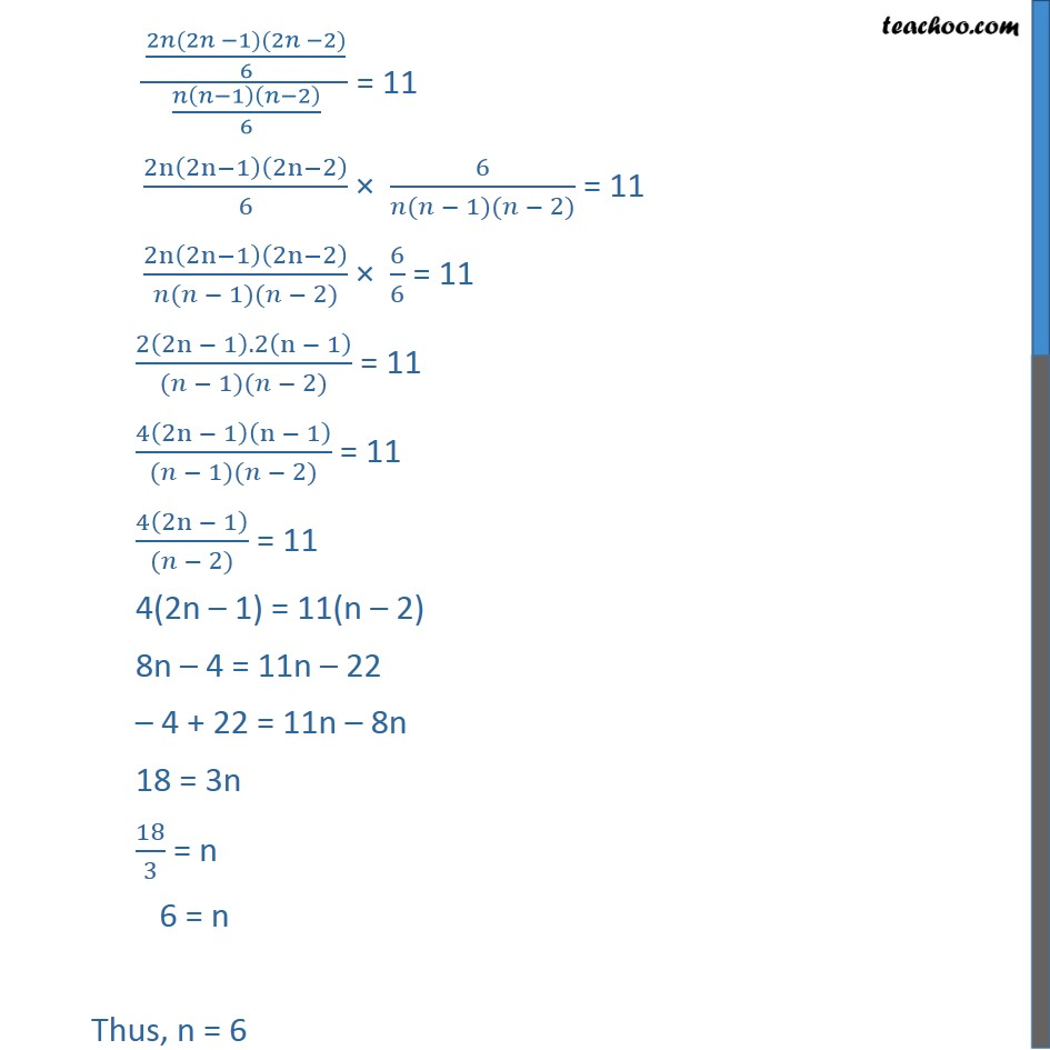 Ex 7.4, 2 - Chapter 7 Class 11 Permutations and Combinations - Part 4