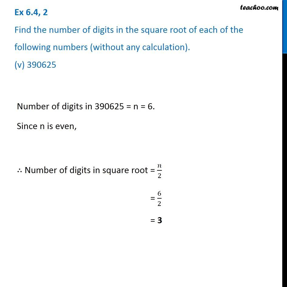 Ex 6.4, 2 - Chapter 6 Class 8 Squares and Square Roots - Part 5