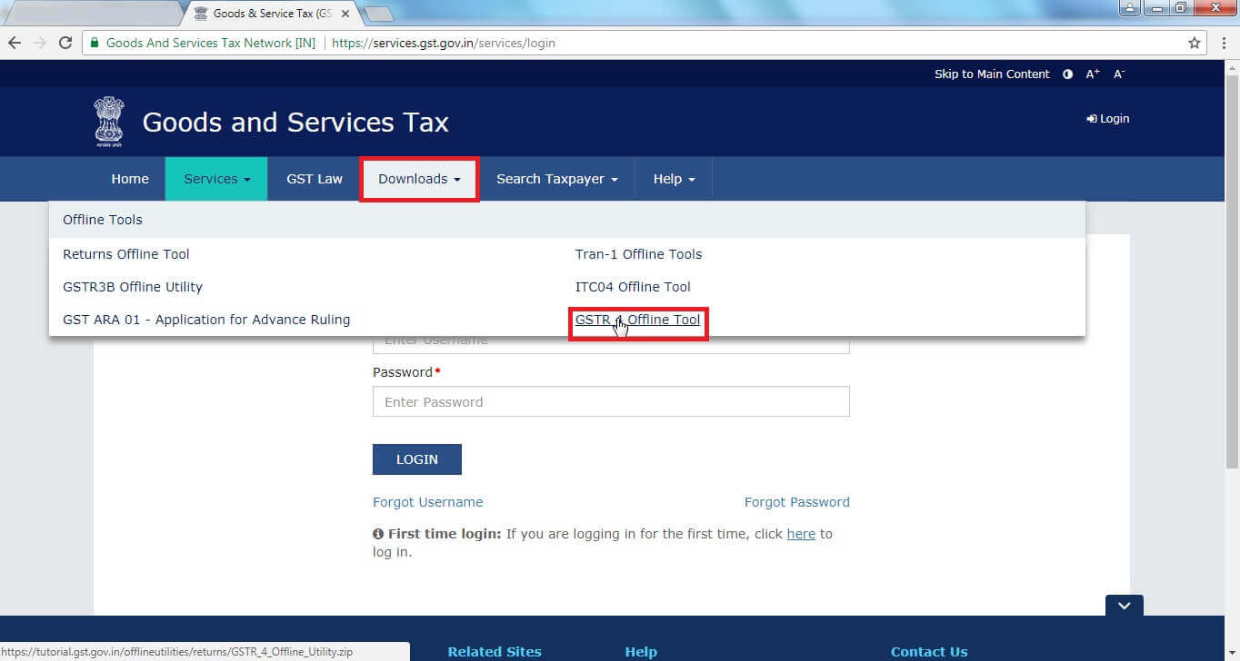 3. Click Download then click GSTR 4 Offline tool.jpg