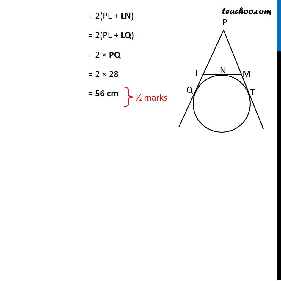 Question 8 - CBSE Class 10 Sample Paper for 2021 Boards - Maths Standard - Part 2