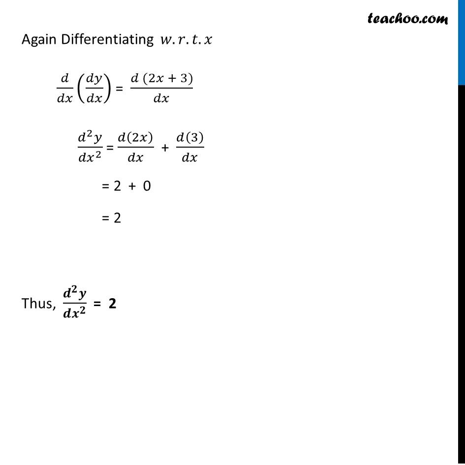 Ex 5.7, 1 - Chapter 5 Class 12 Continuity and Differentiability - Part 2