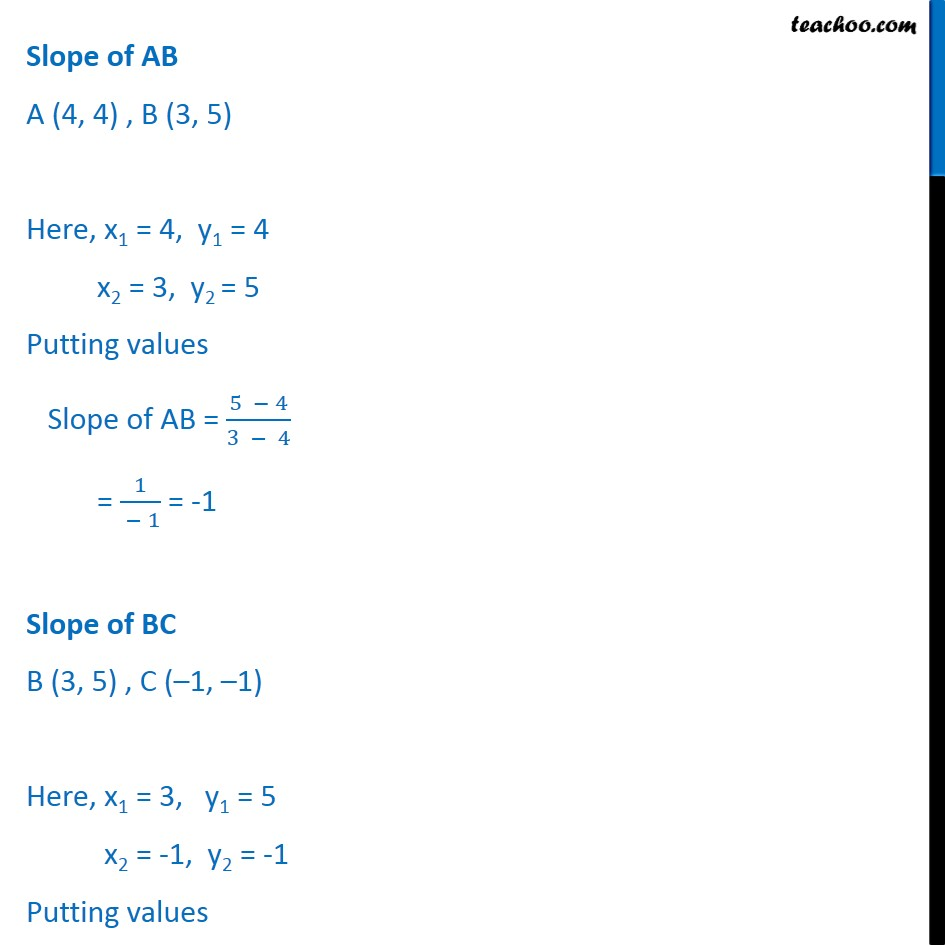 Ex 10.1, 6 - Chapter 10 Class 11 Straight Lines - Part 2
