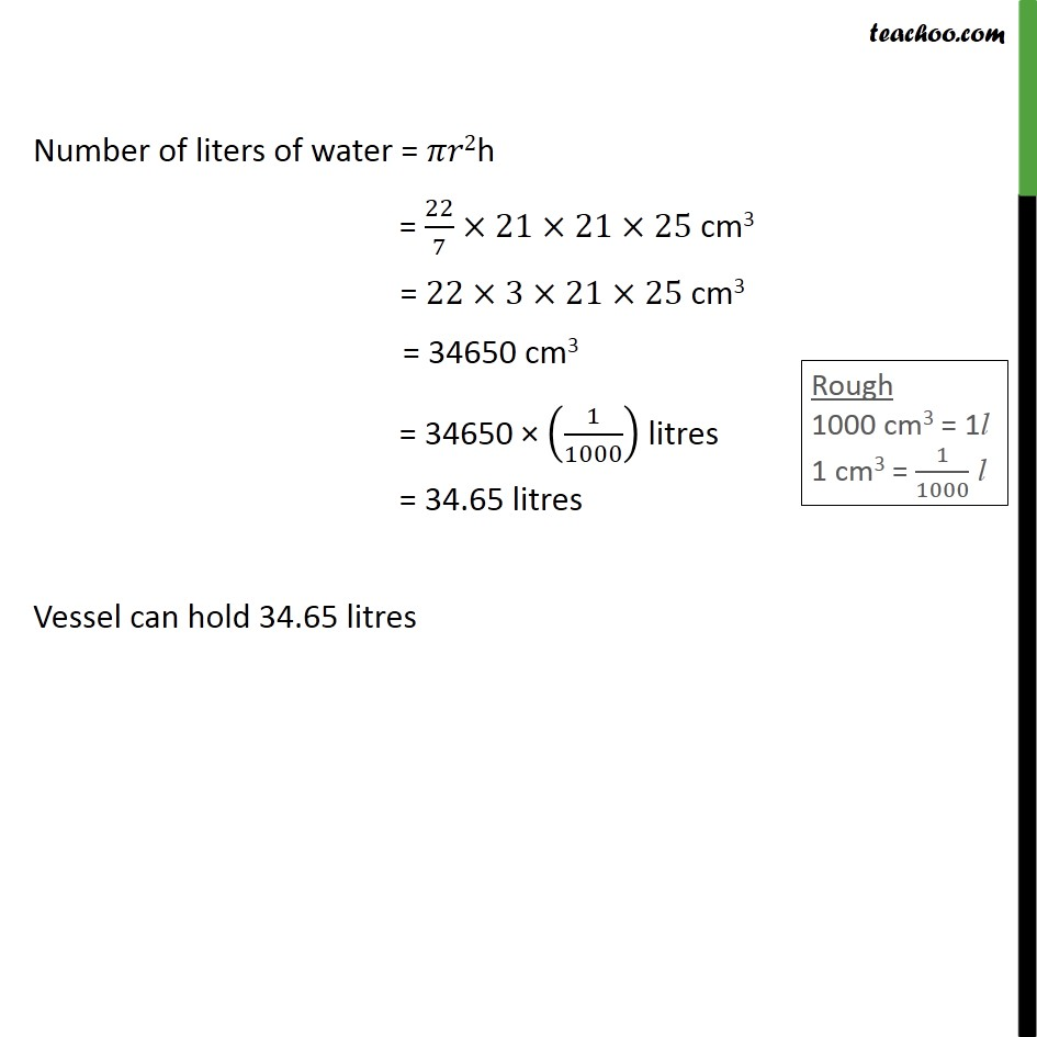 Ex 13.6, 1 - Chapter 13 Class 9 Surface Areas and Volumes - Part 2