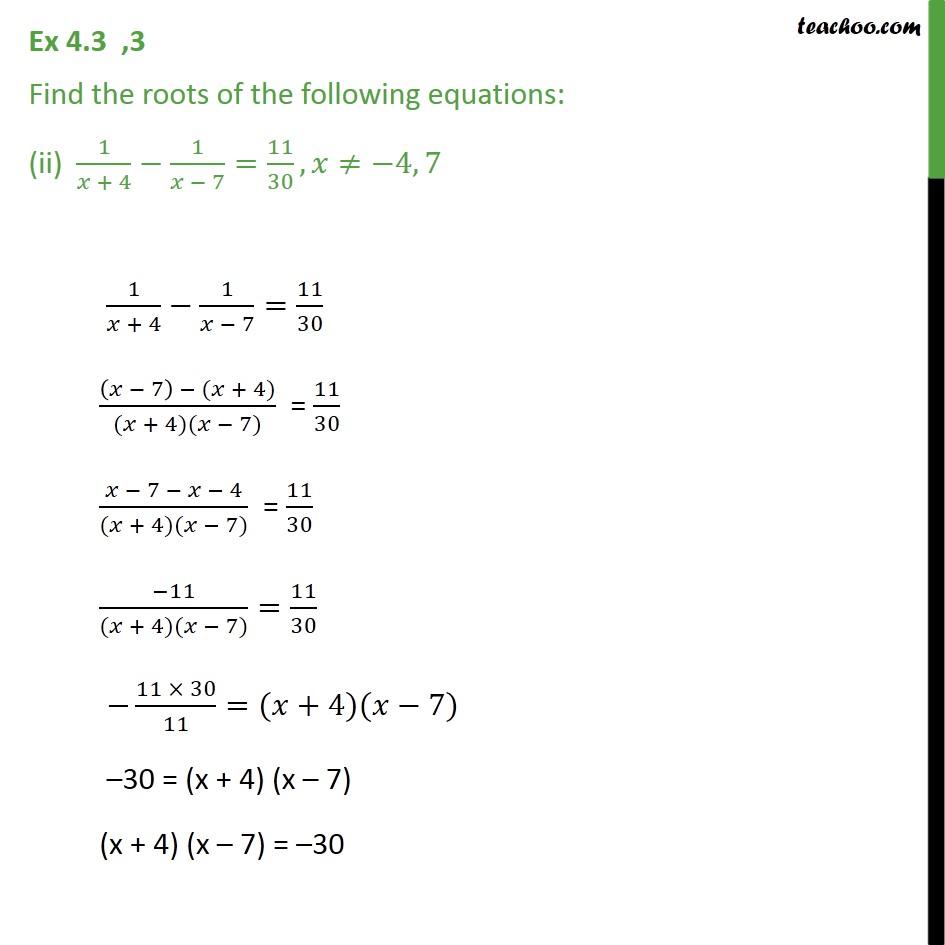 Ex 4.3, 3 - Chapter 4 Class 10 Quadratic Equations - Part 3