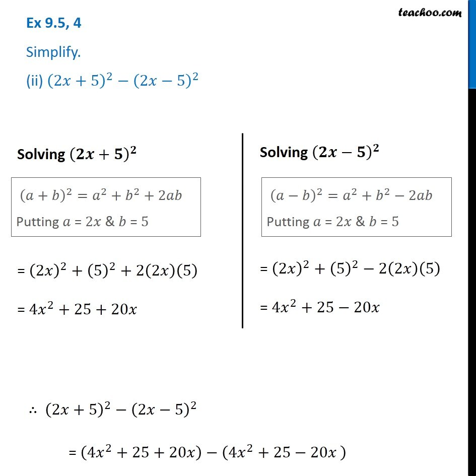 Ex 9.5, 4 - Chapter 9 Class 8 Algebraic Expressions and Identities - Part 2