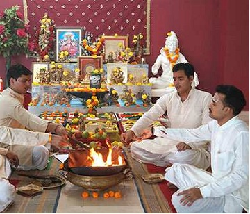 There is a small Pooja (prayer ceremony) in our home.jpg