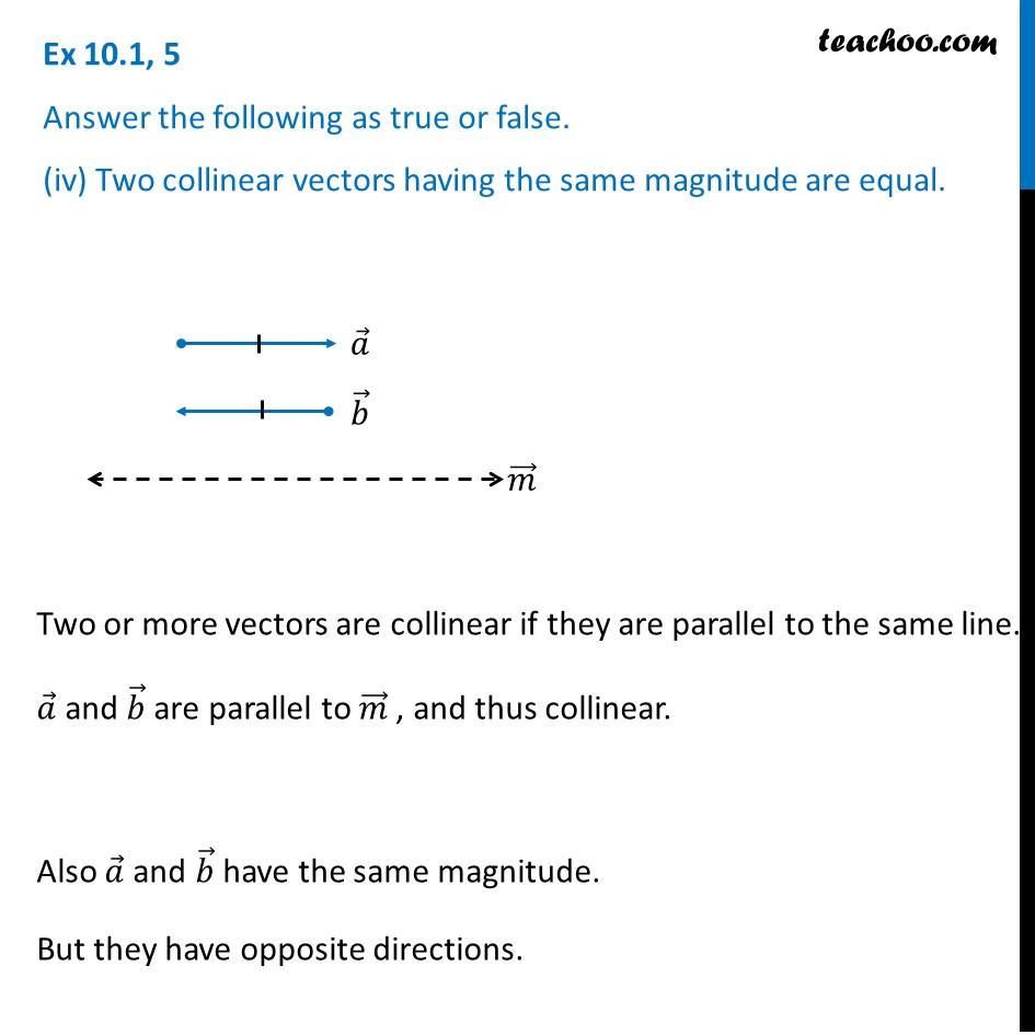 Ex 10.1, 5 - Chapter 10 Class 12 Vector Algebra - Part 4