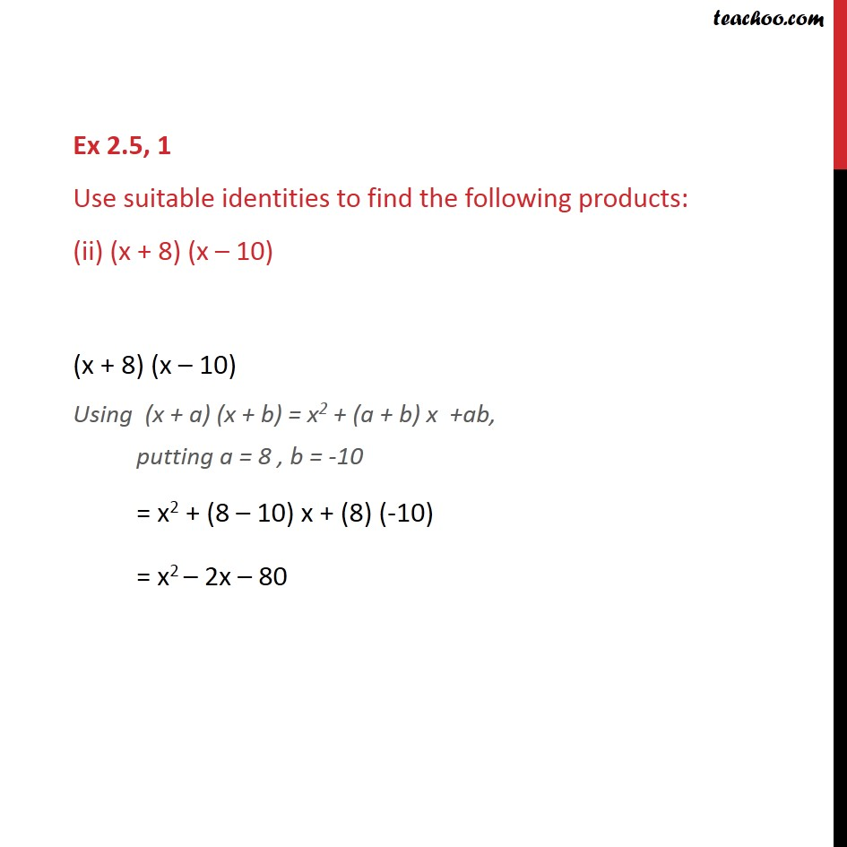 Ex 2.5, 1 - Chapter 2 Class 9 Polynomials - Part 2