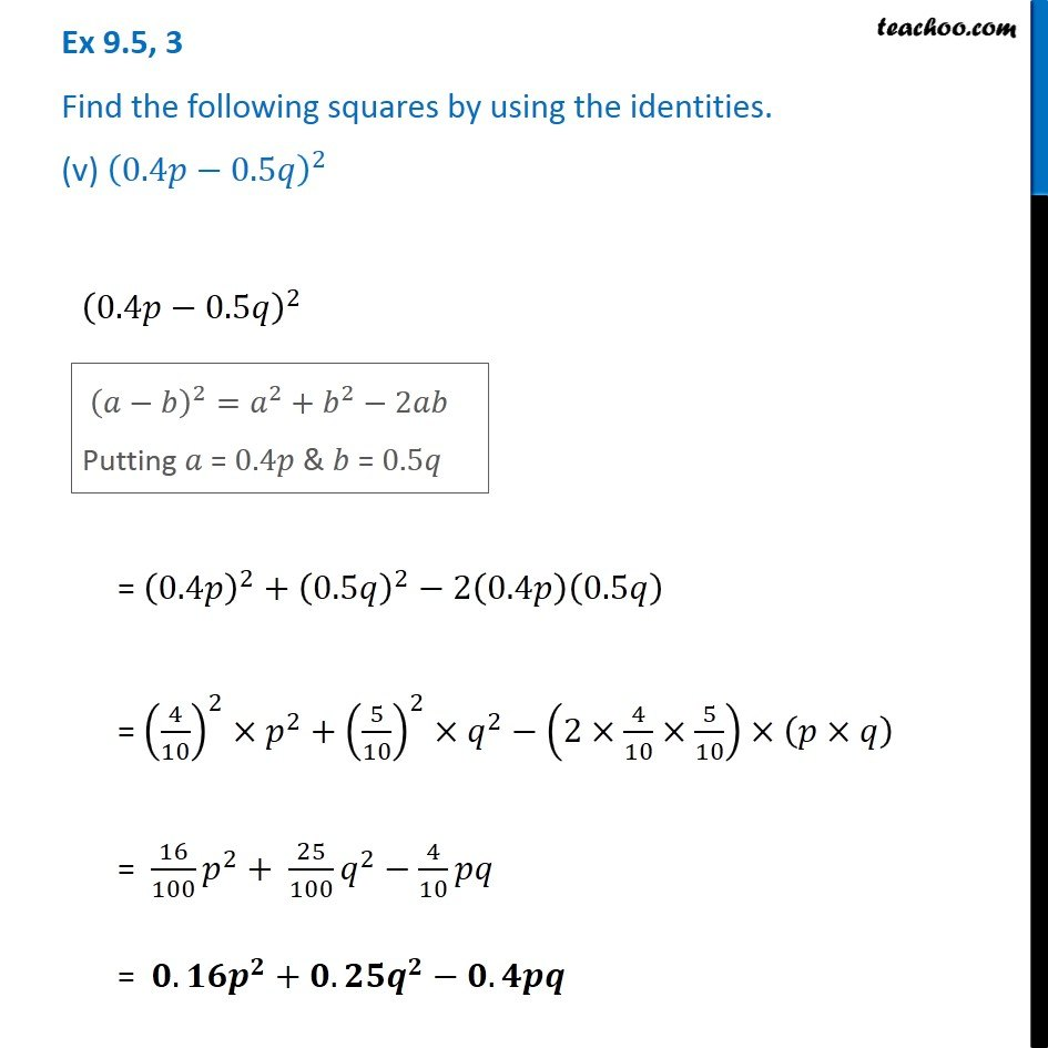 Ex 9.5, 3 - Chapter 9 Class 8 Algebraic Expressions and Identities - Part 5