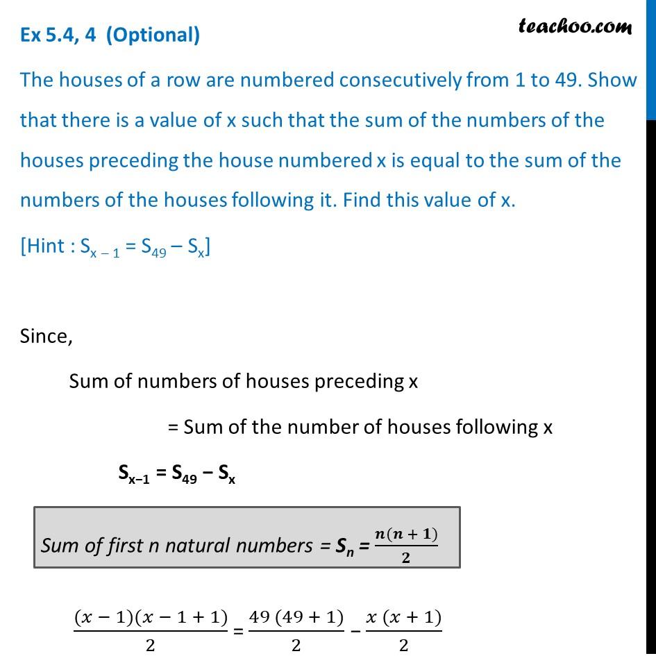 Ex 5.4, 4 (Optional) - Chapter 5 Class 10 Arithmetic Progressions - Part 3
