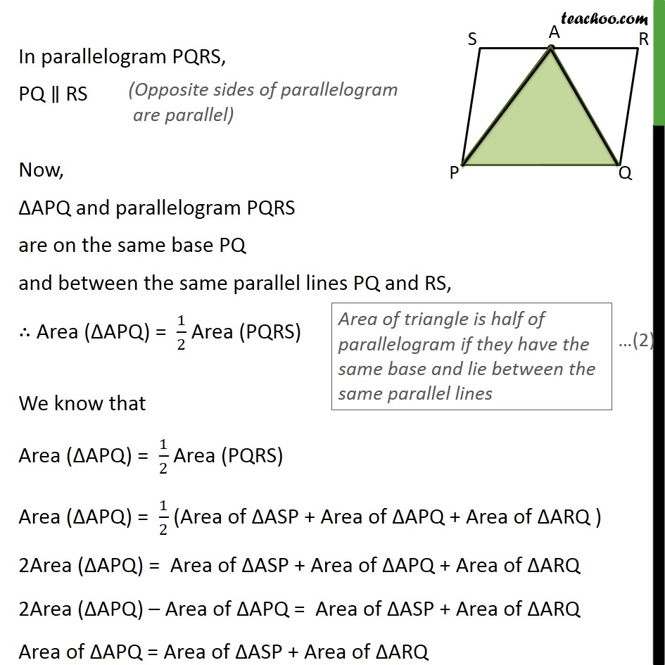 Ex 9.2, 6 - Chapter 9 Class 9 Areas of Parallelograms and Triangles - Part 2