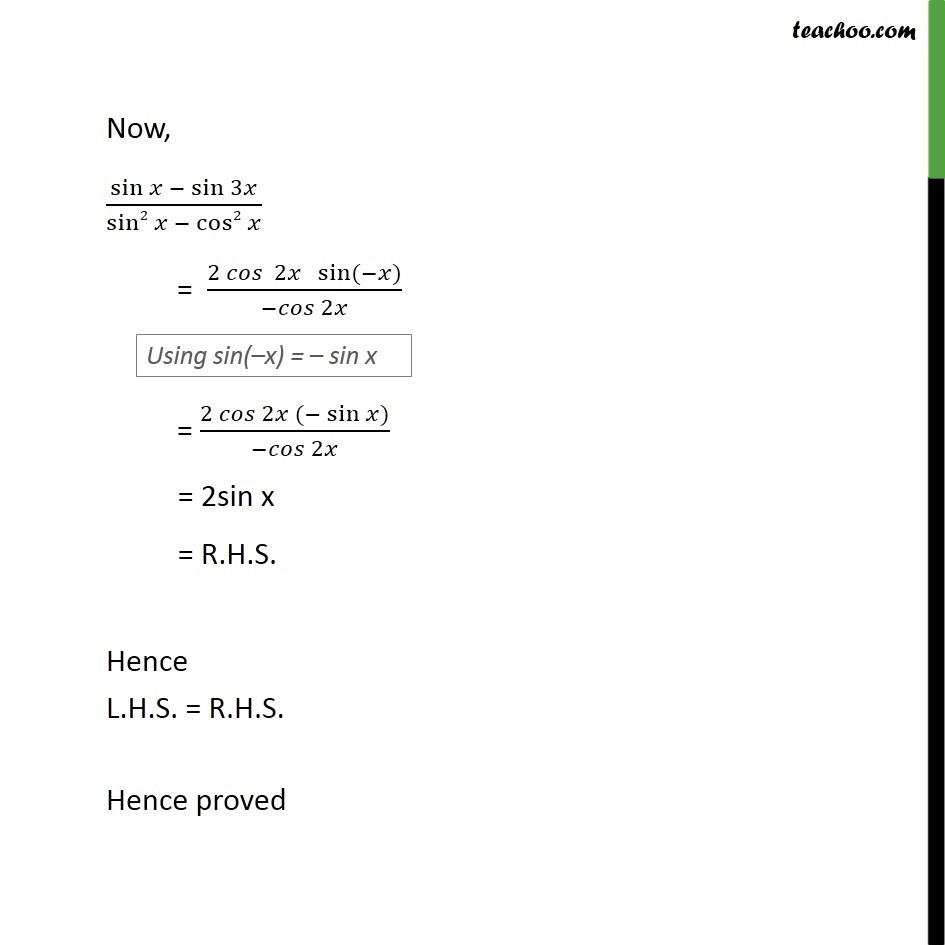 Ex 3.3, 20 - Chapter 3 Class 11 Trigonometric Functions - Part 2
