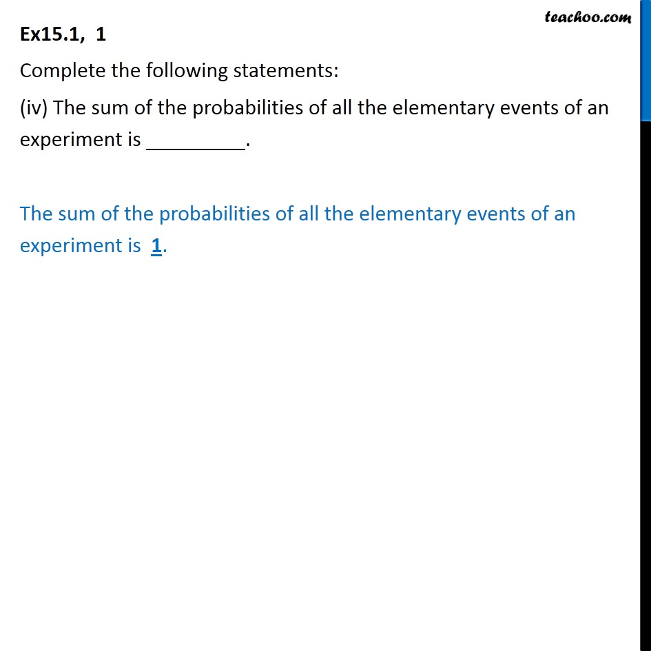 Ex 15.1, 1 - Chapter 15 Class 10 Probability - Part 4